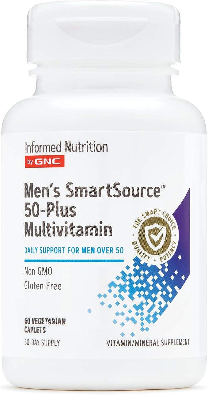 Amazon Com Informed Nutrition By Gnc Men S Smartsource 50 Plus Multivitamin 60 Count Health Personal Care