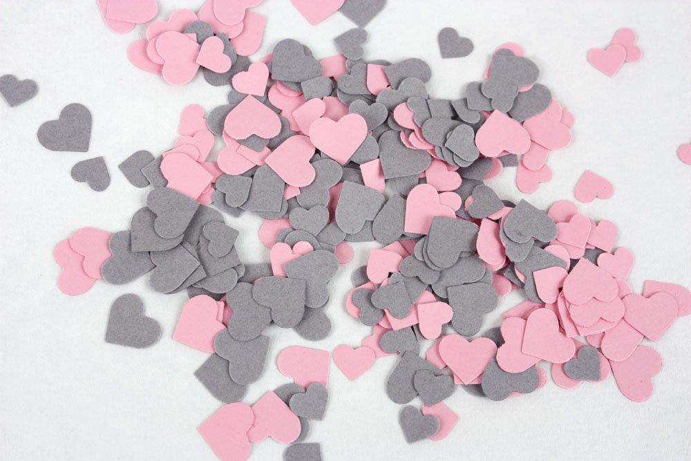 Pink Hearts Table Confetti mini heart patry confetti