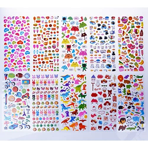 Stickers For Kids 1500 20 Different Sheets 3D Puffy Bulk