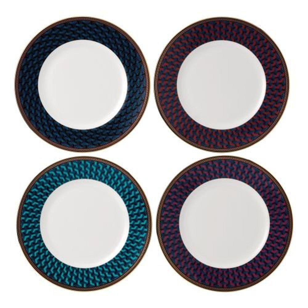 Multicolor Thirstystone TSMO-H92 Monogram 4 Piece Coaster Set with Circular Holder