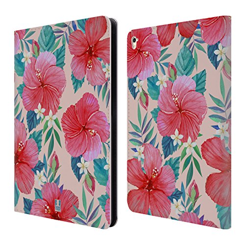 Head Case Designs Tropical Hibiscus Watercolour Flowers 2 Leather Book Wallet Case Cover For Apple iPad Pro 9.7 Hibiscus Purse
