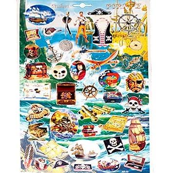 40 piratas barco pirata/etiqueta, tarjeta del tesoro, pirata ...