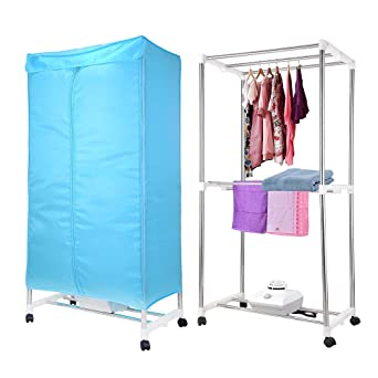 Yescom Portable Electric Clothing Dryer Rack 1000W Heater Wardrobe Drying  Rack Home