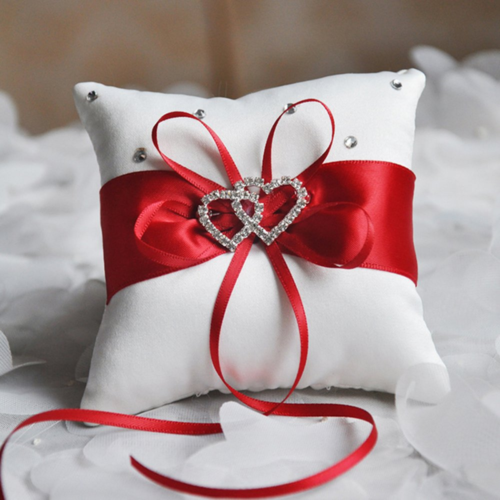 Amazon.com: ehonestbuy Corazón Doble Rhinestone Anillo de ...