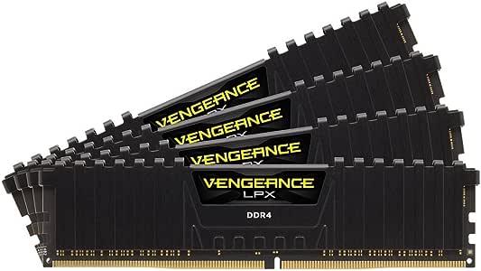 Corsair CMK16GX4M4B3000C15 Vengeance LPX 16GB (4 x 4GB) DDR4 DRAM 3000MHz (PC4-24000) C15 memory kit for DDR4 Systems