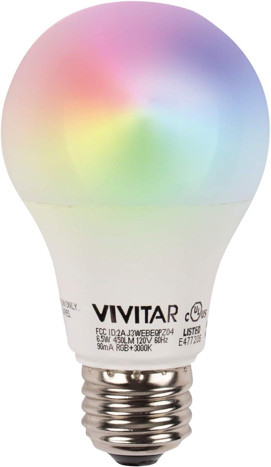 Vivitar LB45 Smart LED 800-Lumen Soft White Bulb