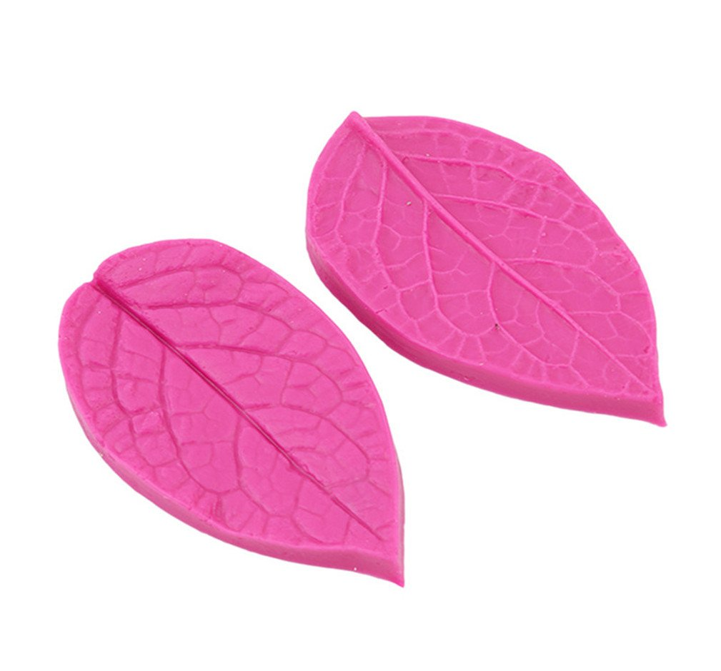 LALANG Leaf Shaped Silicone Press Mold Cake Decoration Fondant
