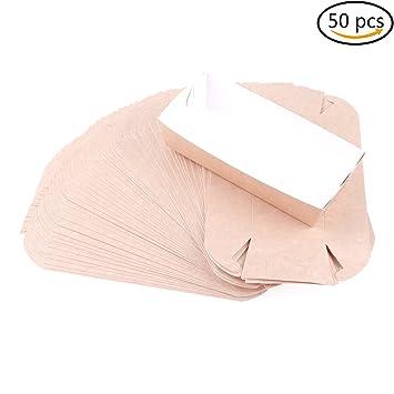 7thlake 50 pcs desechables cartón papel alimentos bandejas de servir la comida barco cestas