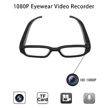 Anviker Full HD 1080p Mini cámara espía cámara oculta,gafas de vigilancia portátiles con 5Mega
