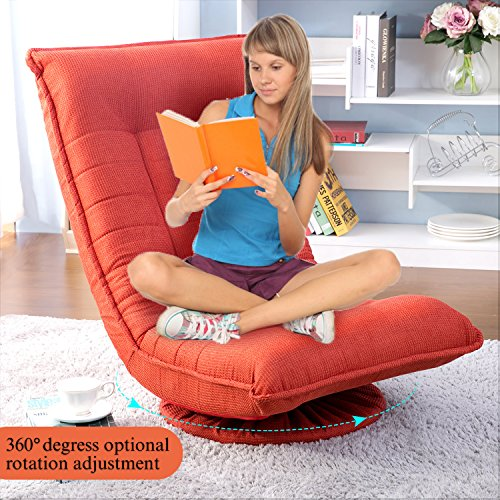 Merax Sleeper Floor Chair Swivel Video Rocker Gaming Chair