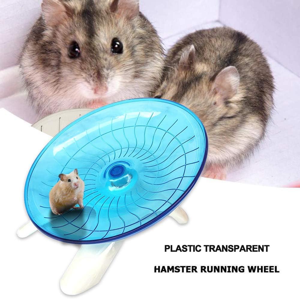 EZSMART Rueda Hamster, Platillos Voladores Rueda de Ejercicio para Hamsters, Disco Giratorio silencioso Antideslizante para Chinchillas, Ardillas y Ratones, Disco de Correr para pequeños roedores