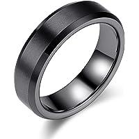 Yoursfs 指輪 メンズ シンプル ステンレス リング ファション ブランド 指輪 プレゼント (黒, 19)