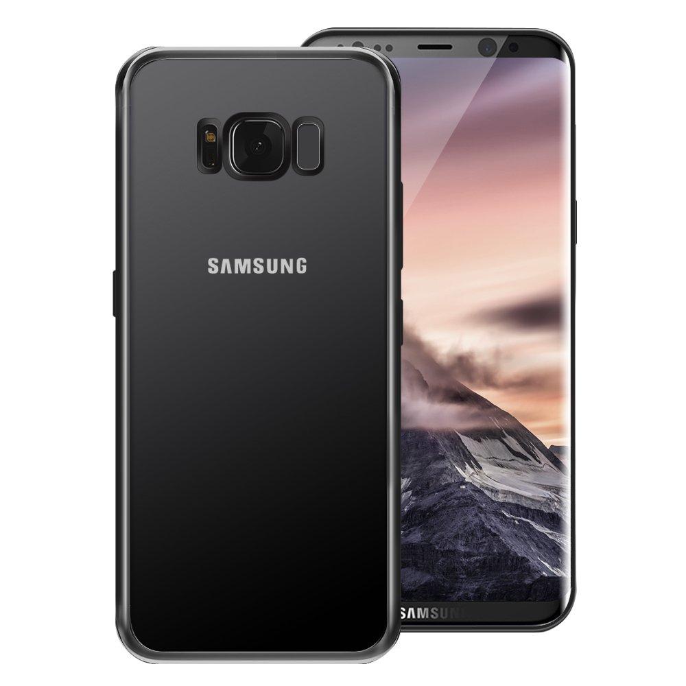 Coque Samsung Galaxy S8 , Tronisky [Absorption de Choc] Galaxy S8 Housse Résistante antichoc Premium TPU Silicone Bumper Coque pour Samsung Galaxy S8 - Jet Noir