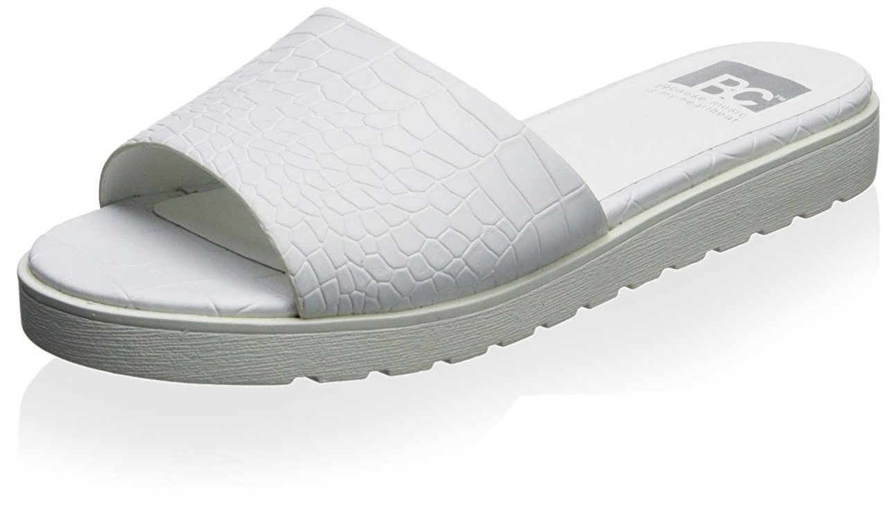 BC Footwear Women's Inspiration Platform Sandal B00NXGK1I4 8 B(M) US|White Croco