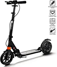 Adult Scooter 2019 Upgraded Kick Scooter Height-Adjustable Foldable Dual Suspension Rear Fender Brake Lightweight Aluminium A