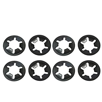 6mm Star Bloqueo Arandelas X 100