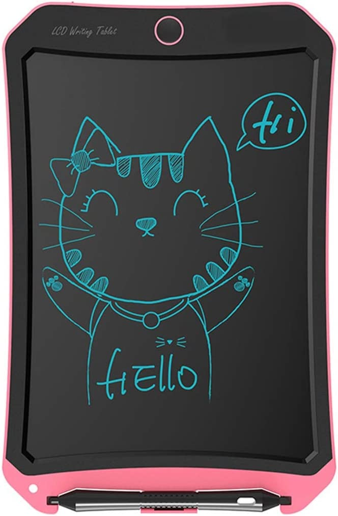 LCD Writing Tablet//Electronic Writing Pink 8.5 Inch Childrens Drawing Board Non-Magnetic Light Energy Small Blackboard Monochrome Graffiti