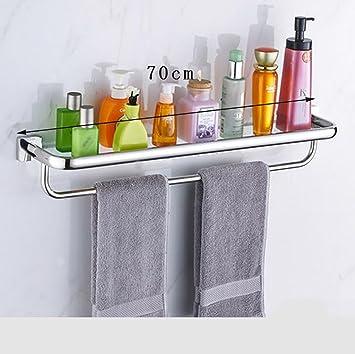 Badezimmer Regal Badezimmer-Glas-Zahnstange, 304 Edelstahl-Regale ...