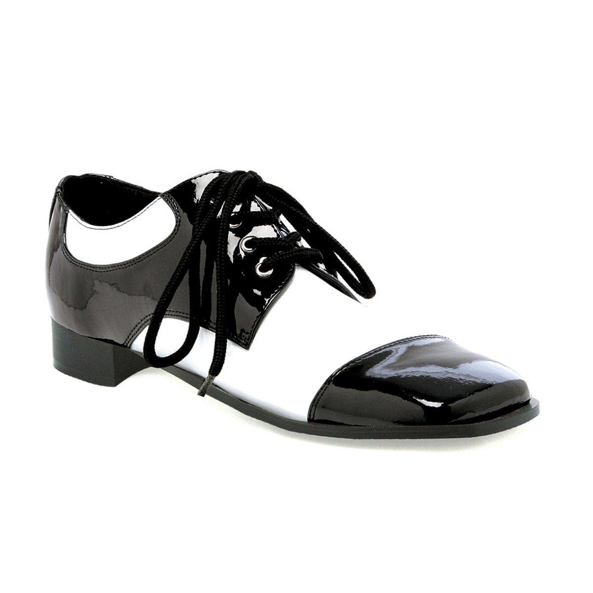 Ellie Shoes Men's 1''Heel Black and White Shoe. Sizes) M BLKW