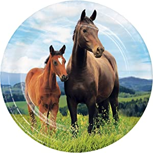 Kentucky Derby Party Supplies Preakness Stakes Belmont Horse Racing Farmhouse Barn Paper Plates Dessert Plates Appetizer Plates 7 Inch Pk 32