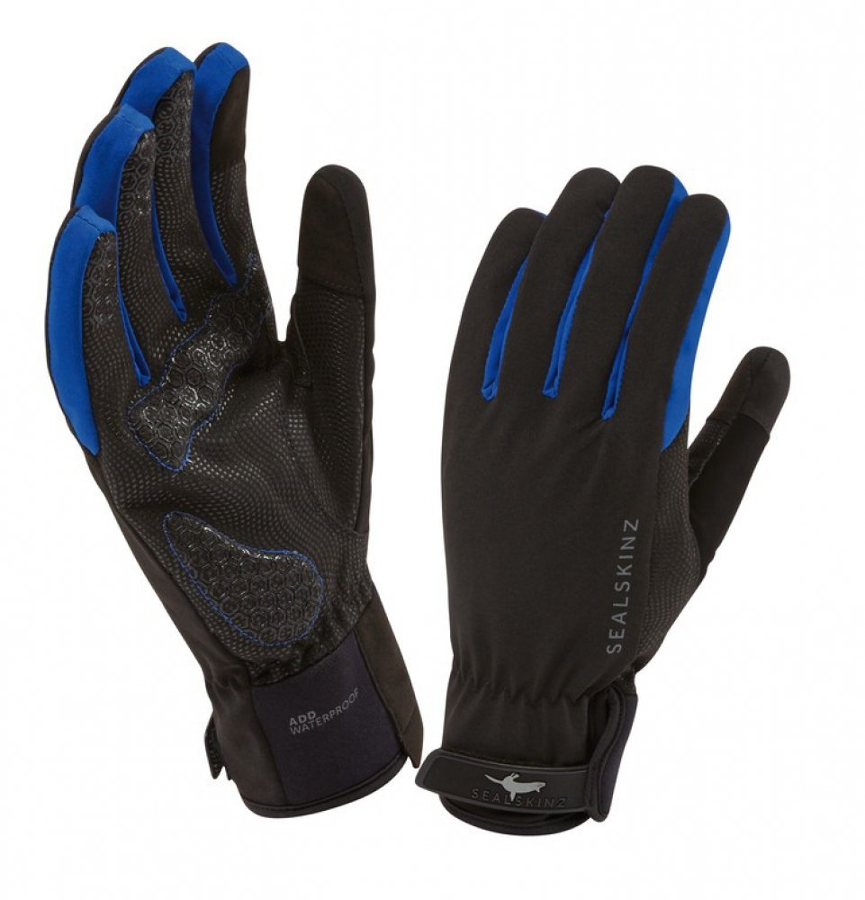 Handschuhe SealSkinz All Weather Cycle schwarz/blau Gr.M (9)