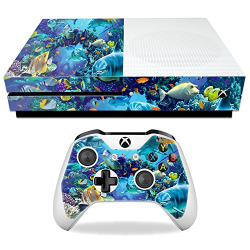 Price comparison product image Skin For Microsoft Xbox One S – Ocean Friends | MightySkins Protective, Durable, and Unique Vinyl Decal wrap cover | Easy To Apply, Remove, and Change Styles | Made in the USA