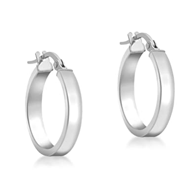 69b3e7f48 Carissima Gold Women's White Gold 15 mm 9ct White Gold Earring ...