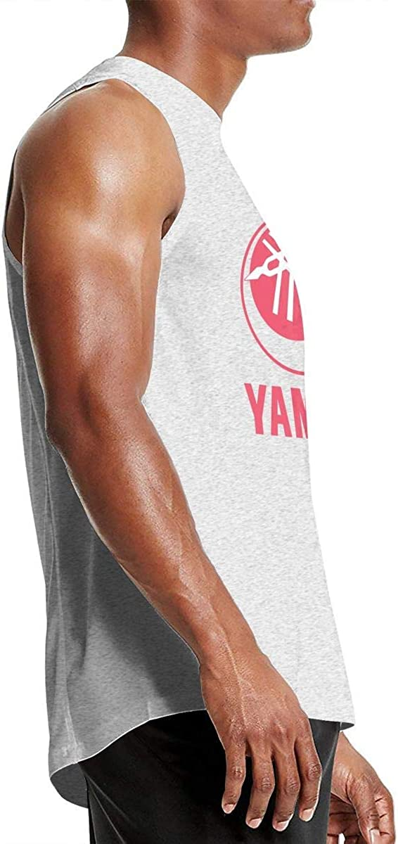 HEJON Custom Yamaha Motorcycle Racing Logoe Breathable Pure Cotton Sleeveless T Shirt for Boys O-Neck Black