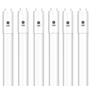 GE Lighting Work Spaces LED T8 Linear Bulb with G13 Base, 15-Watt, Bright White, Pack of 6