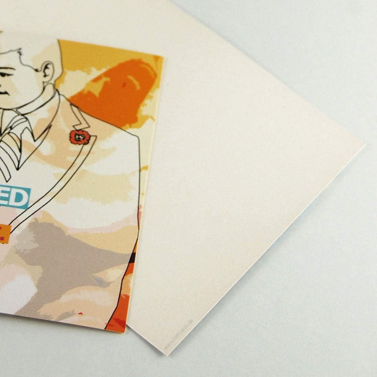 WeddingTree 52 Postkarten Hochzeit mit 10m Schnur /& 60 Klammern Postkarten A6