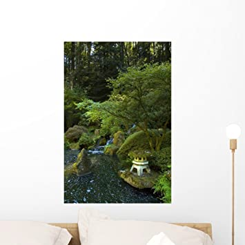 Japanese Garden Wall Mural By Wallmonkeys Peel And Stick Graphic (24 In H X  16