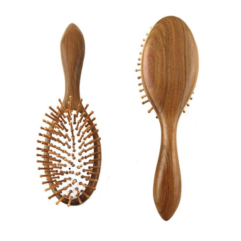 YC electronics Hair Brush Hair Comb 1 Comb Hair Care Brush Massage Wooden Spa Massage Comb Antistatic Hair Comb Massage Head Promote Blood Circulation by YC electronics