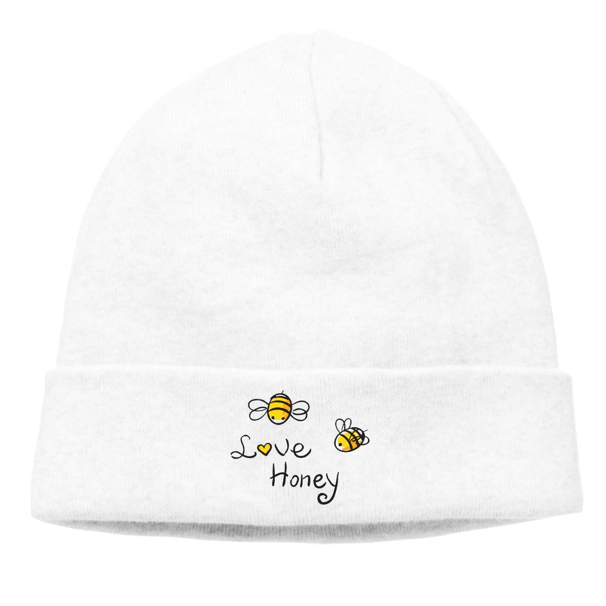 Simoner Love Honey Bee Warm Stretchy Solid Daily Skull Cap,Knit Wool Beanie Hat Deep Heather