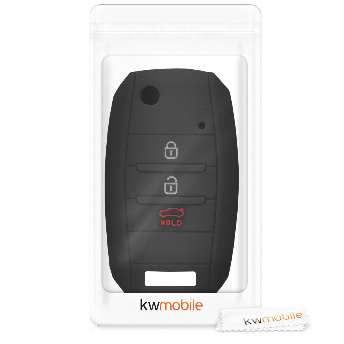 kwmobile Car Key Cover for Kia White//Dark Pink Silicone Protective Key Fob Cover for Kia 3-4 Button Car Key