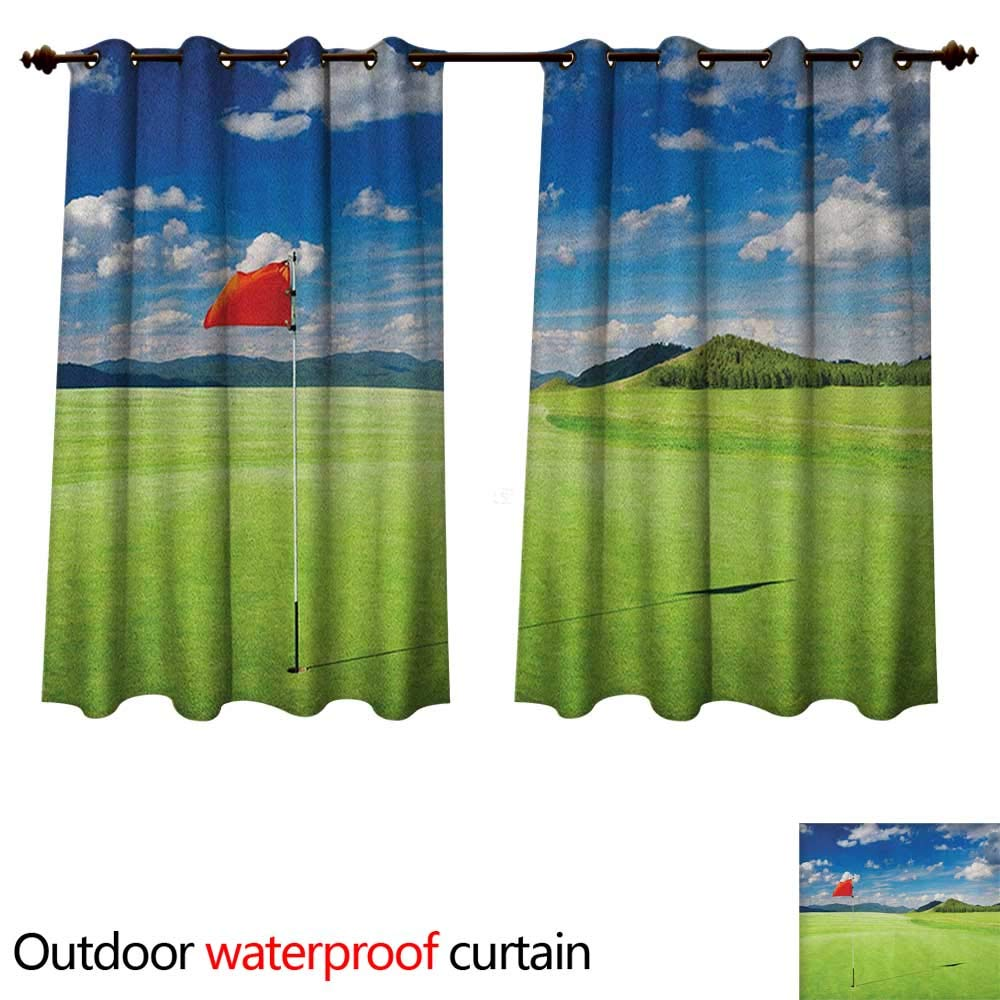 140cm x 115cm Sport 0utdoor Curtains for Patio Waterproof Abstract Lines Background Ice Hockey Pattern Competitive Match Winter Season W55 x L45