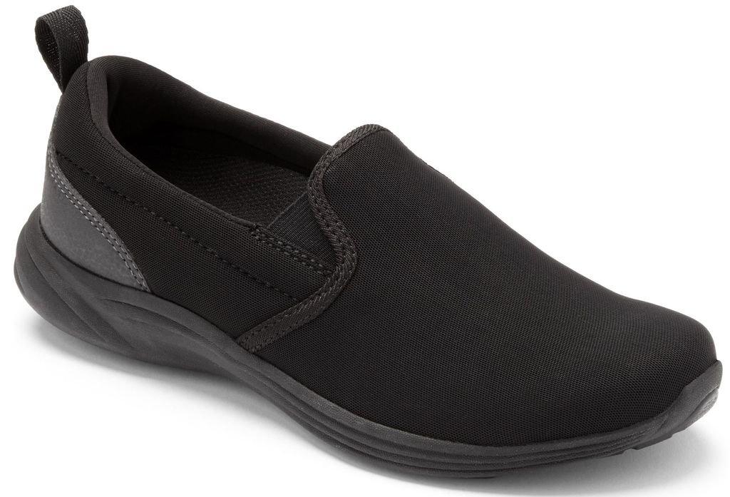 Vionic Womens Agile Kea Slip-On Sneaker Black/Black Size 8