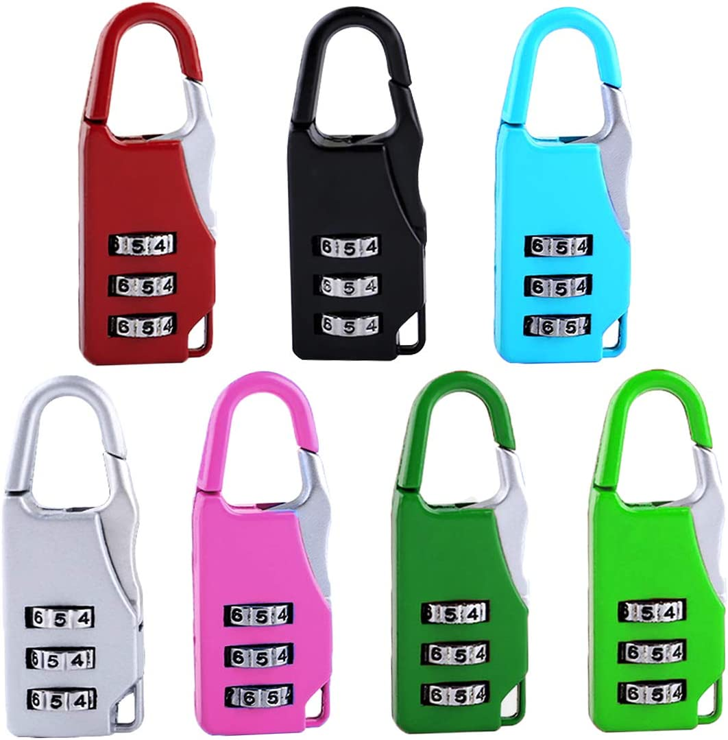 BESTZY Combination Lock Outdoor Heavy Duty 7 pcs Weather Proof Padlocklock for Gym Locker School Outdoor Shed Locker and Travel Suitcase