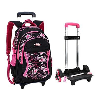 Amazon.com   Fellibay Rolling Backpack Kids Backpack 3 Wheels Kids ...
