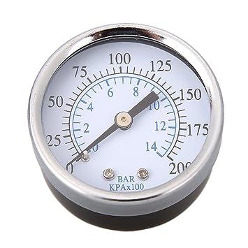 """Compresor de aire hidráulico medidor de presión 2 """"Face 0 – 200 espalda MNT"""