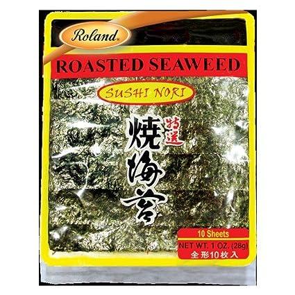 Amazon Com Sushi Nori Roasted Seaweed 1 Ounce Grocery