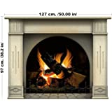 Wall stickers Large Fireplace decal 97 cm. / 127 cm. Multicolor Fireplace fireplace wall sticker