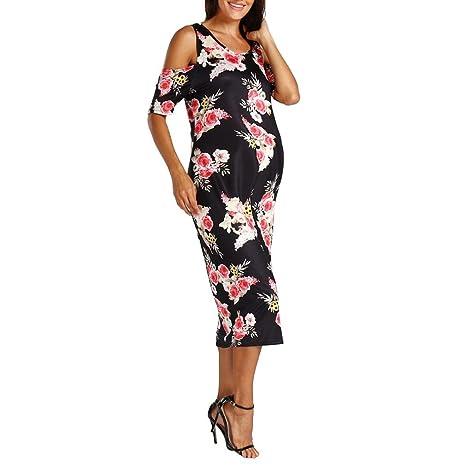 Amazon.com: jarsh Mujer Estampado Floral frío hombro body ...