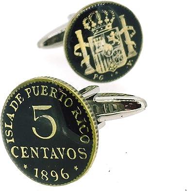 Gemelos para Camisa Replica Moneda 5 centavos España 1896 Puerto ...