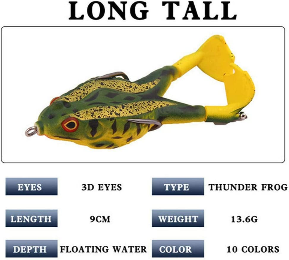 Soft Bait Soft Silicone Fishing Lures 9cm13.6g Double Propellers Frogs Durable