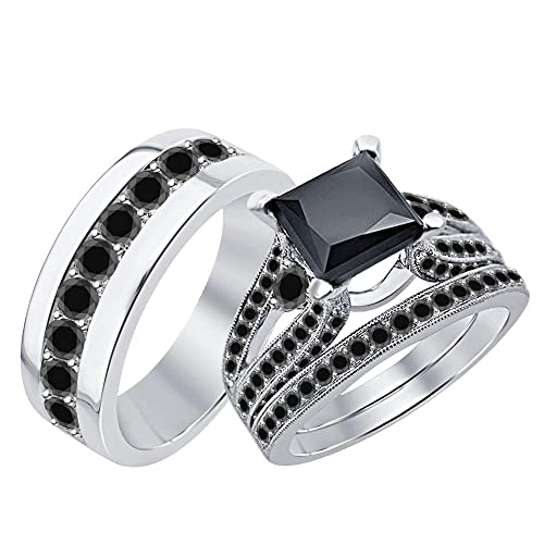 Amazon.com: RUDRAFASHION - Anillo de boda con diseño de Halo ...