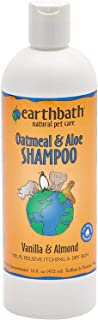 product image for Earthbath Oatmeal & Aloe Pet Shampoo - Vanilla & Almond, Itchy & Dry Skin Relief, Soap-Free, Good for Dogs & Cats, 100% Biodegradable & Cruelty Free - Give Your Pet that Heavenly Scent - 16 fl. oz