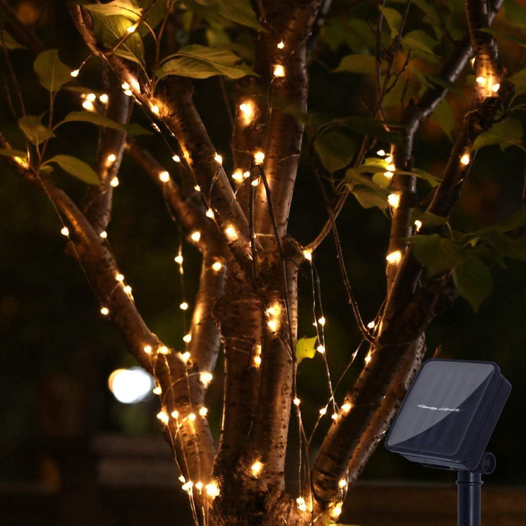 1M FeiliandaJJ LED Lichterkette Solar 100LED Wasserdicht LED Deko Licht Hochzeit Party Halloween Xmas Innen Au/ßen Garten Deko Lichterkette String Lights