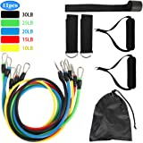 Exercise Resistance Bands Set,fitness Stretch Workout Bands Cord With Pull Ropes, Handles, Door Buckle, Foot Ring And Bag For Men Women Abdomen Waist Arm Fitness