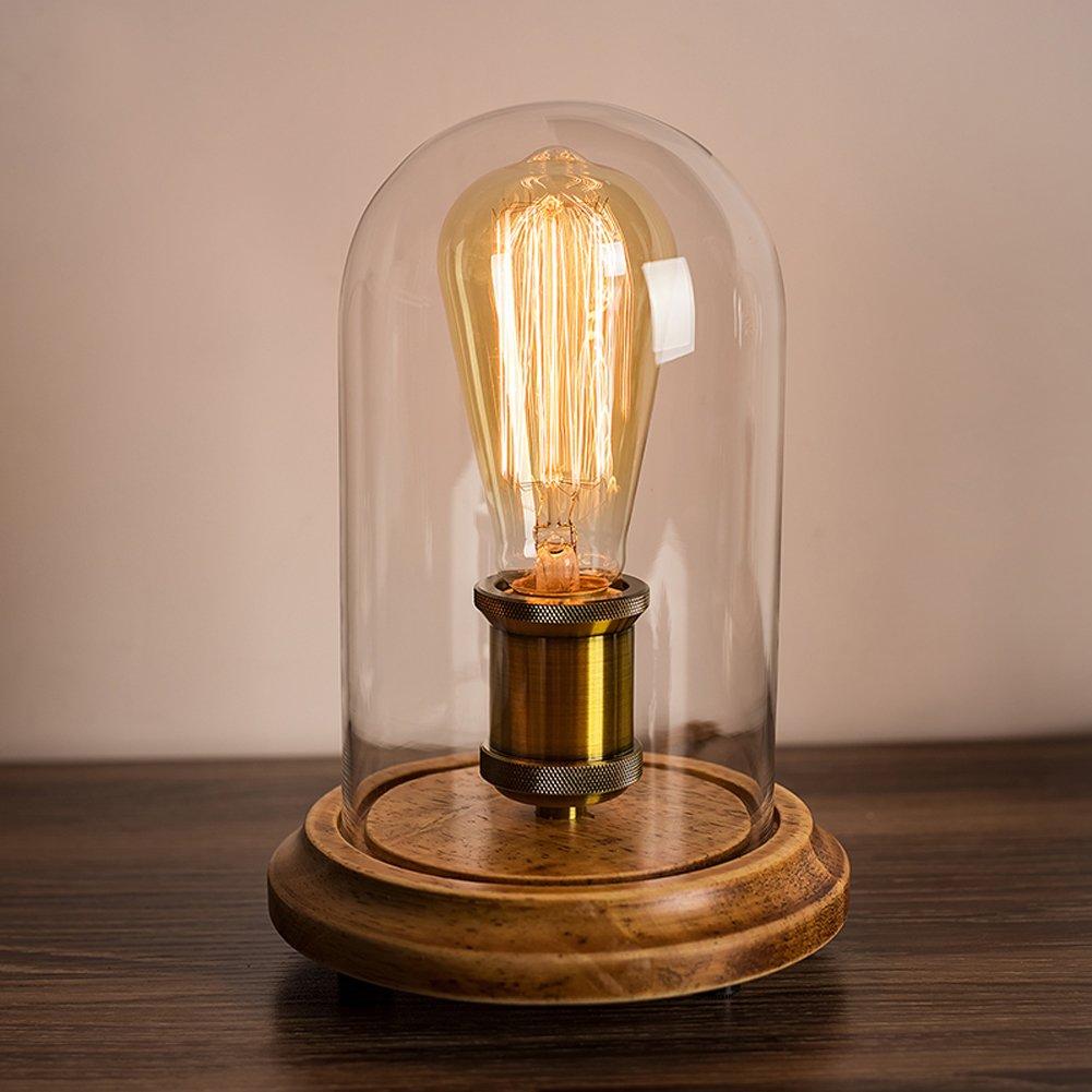 Surpars House Vintage Desk Lamp Glass Shade Table Lamp