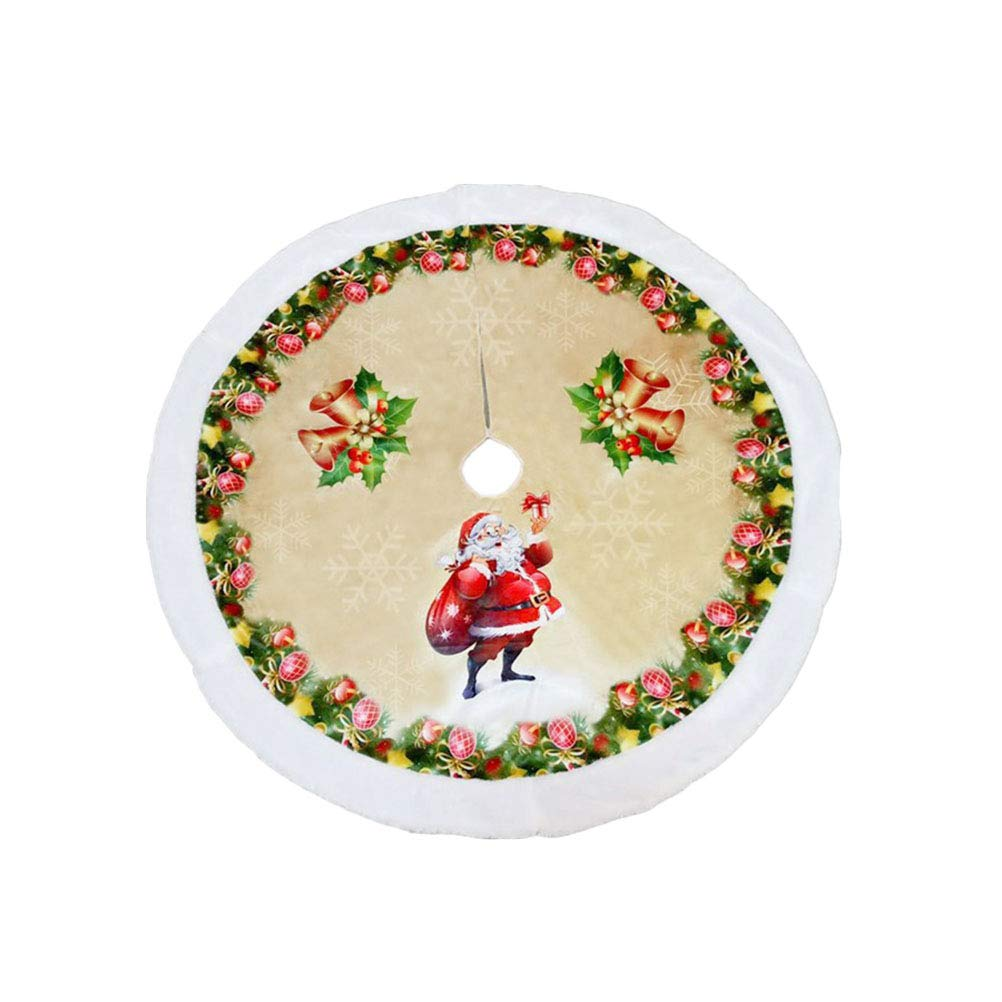 BESTOYARD 98cm Christmas Tree Lint Skirt Xmas Tree Decoration Christmas Supplies (Old Man Pattern)